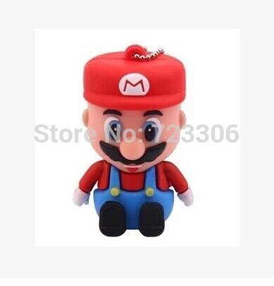 Wholesale! Real cartoon Super Mario 1GB/2GB/4 gb / 8 gb / 16 gb / 32 gb/64GB usb 2.0 memory pen thumb disk / drive / gift(China (Mainland))