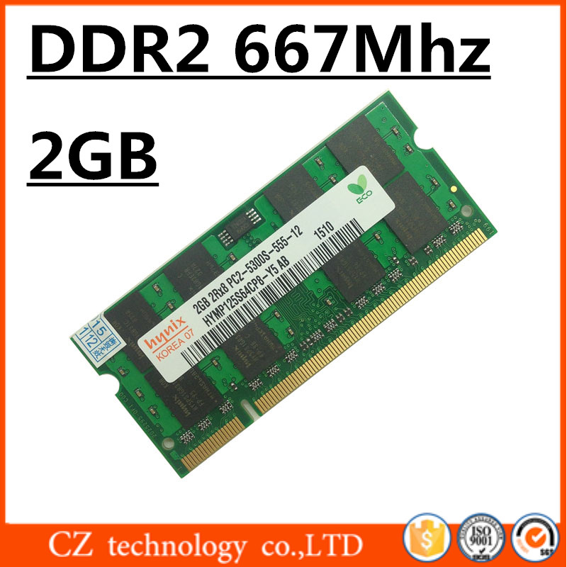 promotion memory ram ddr2 2gb 4gb 667Mhz pc2-5300 so-dimm laptop, ram ddr2 2gb 667 pc2 5300 sodimm notebook, 2gb ddr2 memory(China (Mainland))