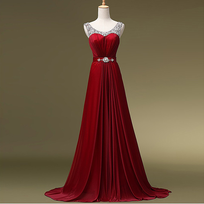 2014 fall winter collection long red evening dress elegant for Formal dresses for winter wedding