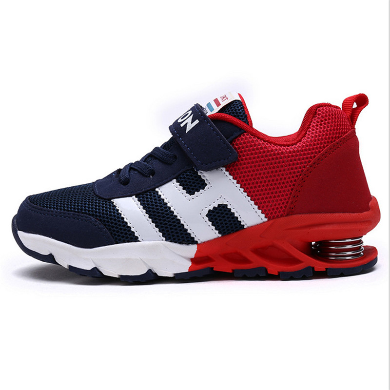 New Design Children Sports Shoes Boys Girls Spring Damping Outsole Slip Patchwork Breathable Kids Sneakers Child Running Shoes(China (Mainland))