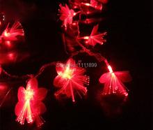 DHL Free ship 20pc/lot 7M 50 led flower optic fiber light String Colorful Holiday Wedding Decoration Christmas Fairy tree Lights - Bright spot store