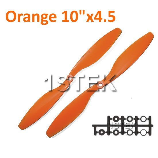 "12PAIRS ORANGE 10x4.5"" 1045 1045R CW/CCW Propeller For Multi Rotor Copter"
