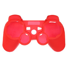 New Arrival High Quality Fashional Red Silicone Protective Skin Case Cover For Sony for PlayStation 3 for PS3 Controller