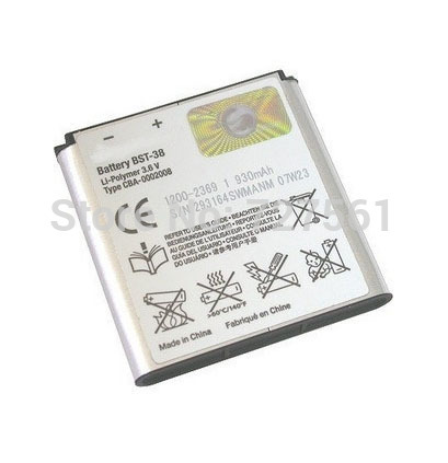 Original Rechargeble battery BST-38 Batteries BST 38 BST38 Phone Battery Bateria for Sony Ericsson W580 W580i w760 T650 X10(China (Mainland))