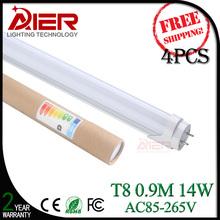 4PCS/lot 0.9M led t8 tube 14W SMD2835 energy saving free shipping(China (Mainland))