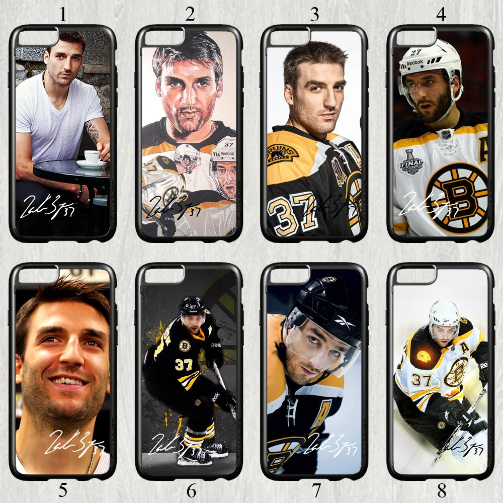 Patrice Bergeron signed NHL star fashion original cell phone case cover for iphone 6 plus (5.5 inch) protection back cover(China (Mainland))