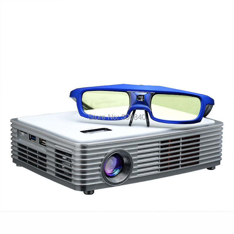 High quality blu ray 3d 2205p 4k dlp mini home theater for Highest lumen pocket projector