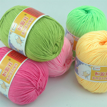 Buy 300g/6 Skein Soft Baby Cotton Crochet Yarn Hand Knitting Coton Crocheter Cashmere Blended Eco-Friendly Dyed Knit Thread for $13.32 in AliExpress store