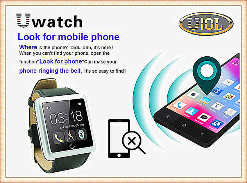 Bluetooth Smart Watch U10 WristWatch U10L Pro Watch for LG Samsung HTC Huawei Xiaomi Android ios for iphone waterproof