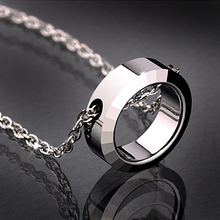 Circle pendant personalized fashion male necklace male chain women's tungsten bars and rods lovers accessories(China (Mainland))