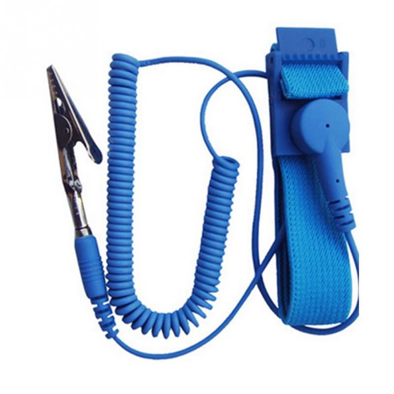Cordless Wireless Clip Antistatic Anti Static ESD Wristband Wrist Strap Discharge Cables For Electrician IC PLCC worker