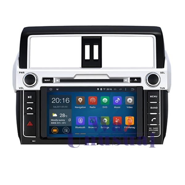Hot Sale HD 1024*600 Quad Core 16G 8'' Pure Android 5.1.1 Car DVD Player for TOYOTA PRADO/ LC150/ for PRADO 150 High level 2014-(China (Mainland))