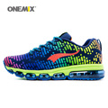 ONEMIX Newest Man Running Shoes Men Nice Run Athletic Trainers Blue Zapatillas Sports Shoe Max Cushion