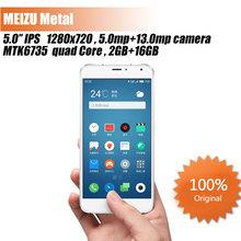 "Original Meizu Metal phone 4G FDD LTE MTK6795 Octa core 5.5"" 2GB RAM 16GB/32GB ROM FHD 13MP Camera 3140mAh Android Smart Phone(China (Mainland))"