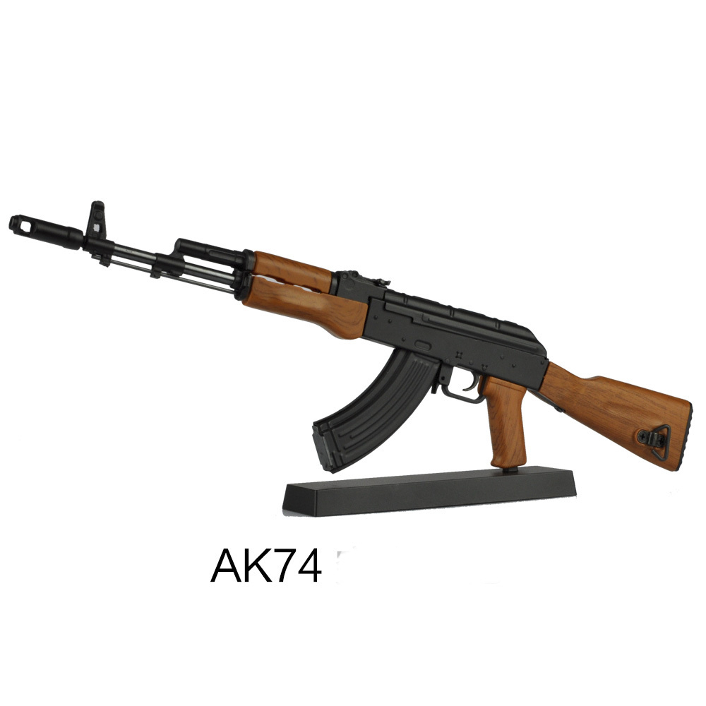 AK74 Assault Rifle 1:6 metal toy gun for swat soldier model military weapon collectors toy christmas toys CLX16TMS(China (Mainland))