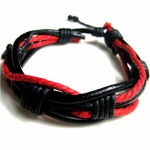 Fashion Mens Wrap Multilayer Leather Bracelet & Bangles Braided Rope Wristband Jewelry Cuff Bracelets Pulseira Masculina Couro