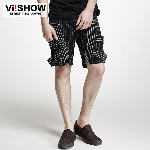 Viishow бренд мужской одежды летние шорты мода спорт хлопок полосатый баскетбол шорты ...