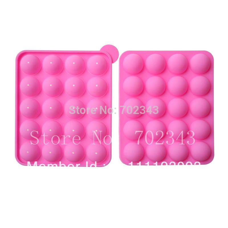 NEW SILICONE NON STICK CAKE POP SET BAKING TRAY MOLD BIRTHDAY PARTY 20 units(China (Mainland))