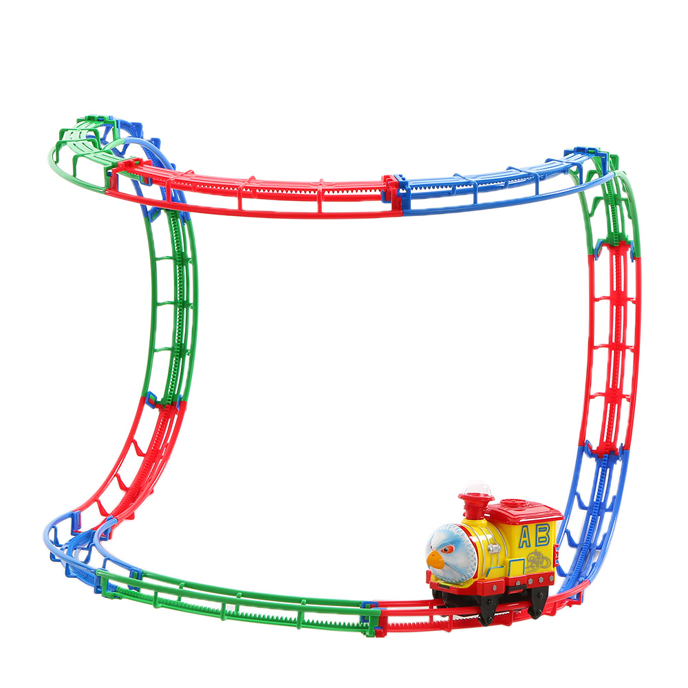 Popular Track Racer Racing Car Kids Toys Rail Car Electric Track Battery Powered DIY Toy Vehicles Set for Children Gift(China (Mainland))
