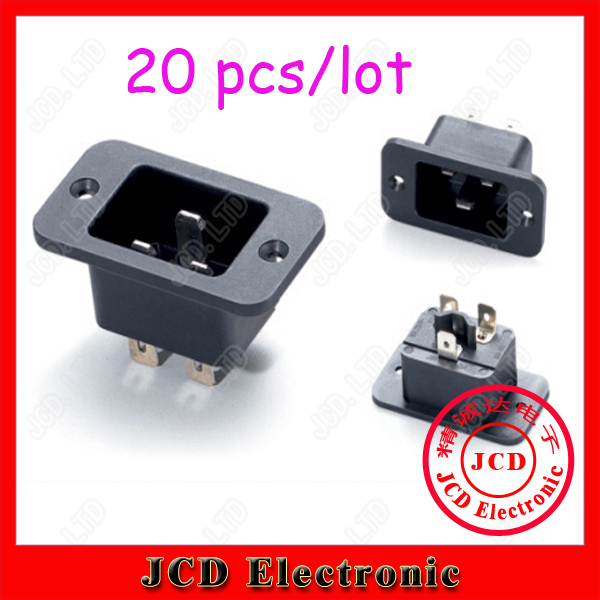 20pcs 3Pin 10A/250V AC Power socket,UPS socket,PDU socket,IEC-C20 plug(China (Mainland))