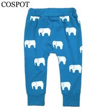 COSPOT 2017 New Baby Girls Boys Long Harem Pants Kids Autumn Cute Fish Elephant Cotton Pants Children Trousers 25F(China (Mainland))