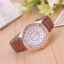 2016 relojes de pulsera, estilos de moda, correa de cuero, ms relojes de negocios, comunicación exterior, mujeres reloj, reloj de cuarzo