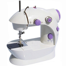 Мини швейная машина двойная линия для большинства хлопчатобумажная ткань ручной машины , чтобы мода электрические бытовые доставка по русский