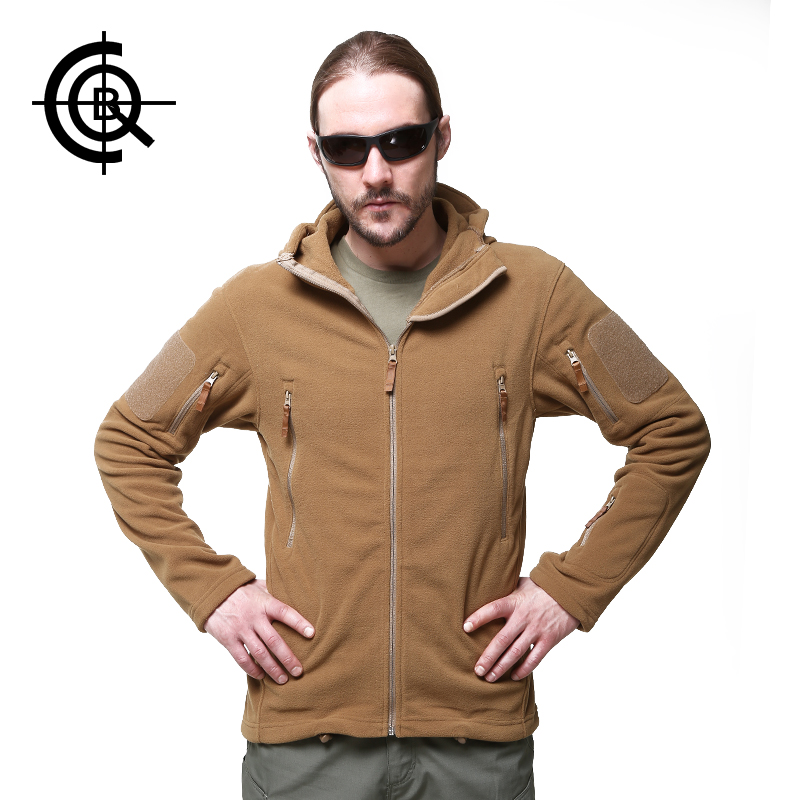 CQB Men Fleece Jacket Climbing Windproof Outdoor Sport Camping Thermal Coat Men Winter Hiking Brand Military Thick Jacket SY0145