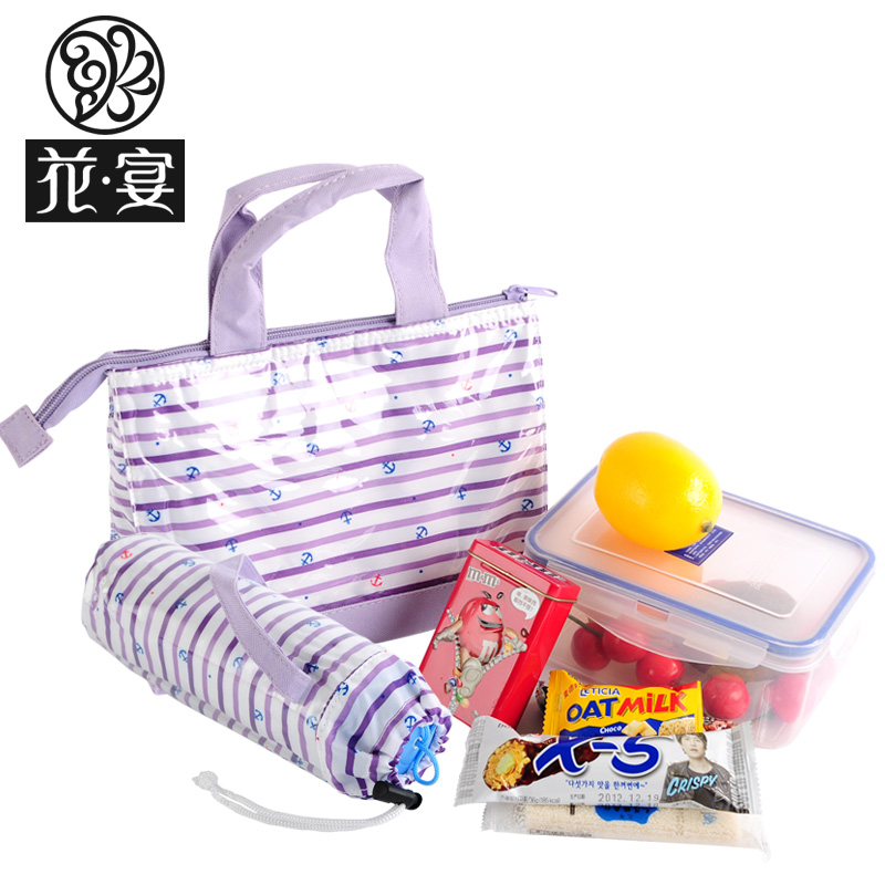 Waterproof thermal lunch bag box bags glass set - Olina Wen's store
