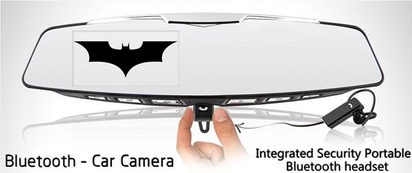 """4.3"""" 1080P Car Camera Bluetooth Rearview Mirror Car DVR Recording G-sensor Bluetooth Car Camcorder Night Vision(China (Mainland))"""
