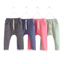 Baby Boys Girls Harem Pants Children Pants Kids Trousers Solid Clothes(China (Mainland))
