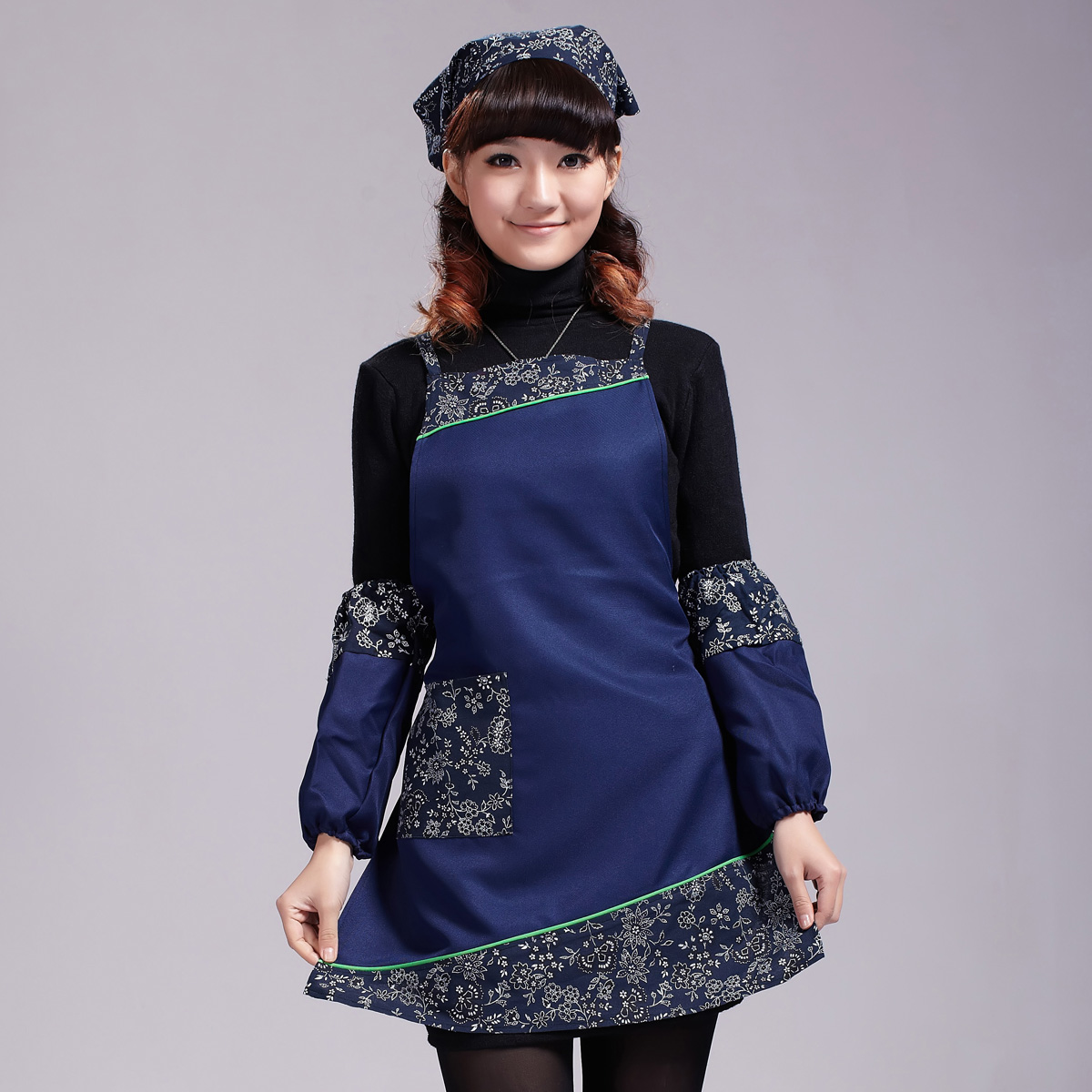 Special offer! Vintage chinese ethnic style apron calico cotton kitchen sleeveless apron (can be customized)(China (Mainland))