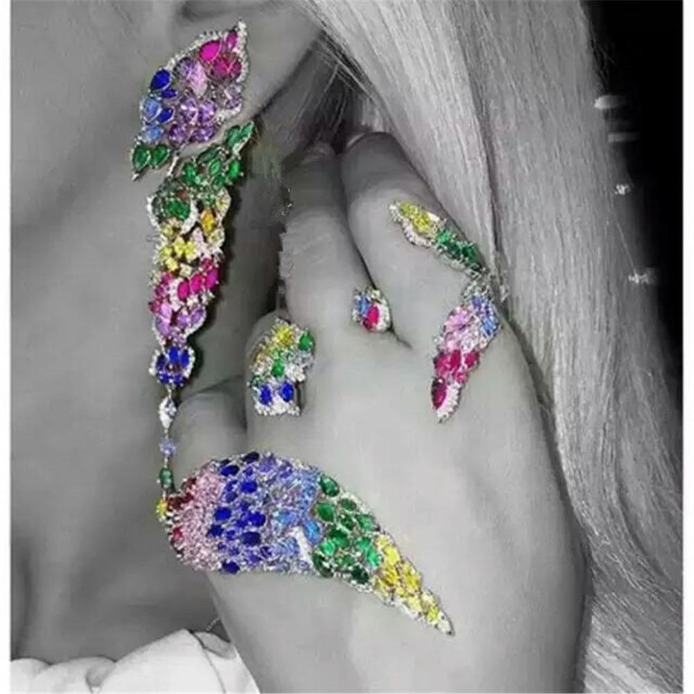 Free shipping Mosaic luxury Sterling Silver  Bracelet Women Fashion Fine High Quality Jewelry XD126<br><br>Aliexpress