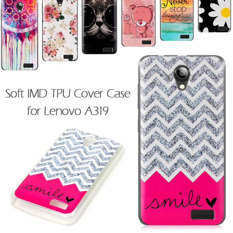 For Lenovo A319 TPU Case Soft IMD TPU Cover For Lenovo A 319 - 4.5 inch(China (Mainland))