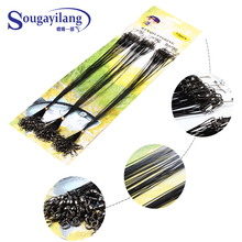 60PCS 30cm /13kg Fishing Lure Trace Wire Leader Swivel Tackle Spinner Shark Spinning AAA Fishing Tackle Fishing Steel Wire(China (Mainland))