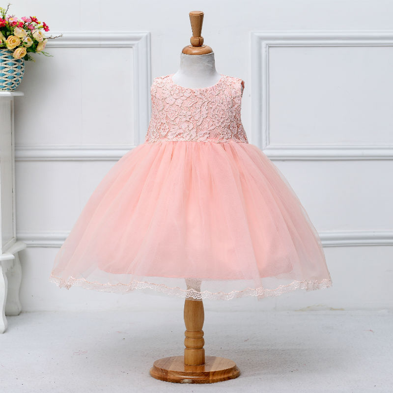 Wholesale 5pcs/lot Baby Girl Dress Baptism Dress for Girl Infant 1 Year Birthday Dress Baby Girl Chirstening Dress for Infant