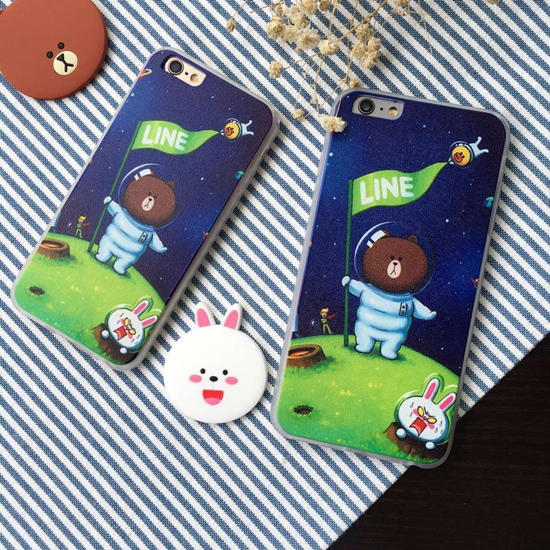 Freeshipping New Dirt-resistant Selling Case Cute Cartoon Bear Bunny Phone Case,soft Cover For Iphones 5/5s 6/6s 6 Plus/6s Plus(China (Mainland))