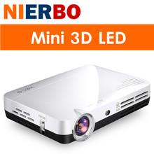 NIERBO 3D LED Projector Full HD 1080P Android Portable Mini Video Projectors Beamer DLP Wifi Home Theater Game Business HDMI MHL(China (Mainland))