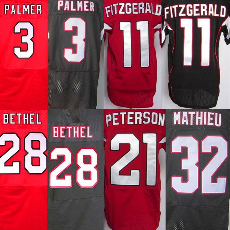 3 Carson Palmer 11 Larry Fitzgerald jerseys 21 Patrick Peterson 32 Tyrann Mathieu 28 Justin Bethel Jersey(China (Mainland))