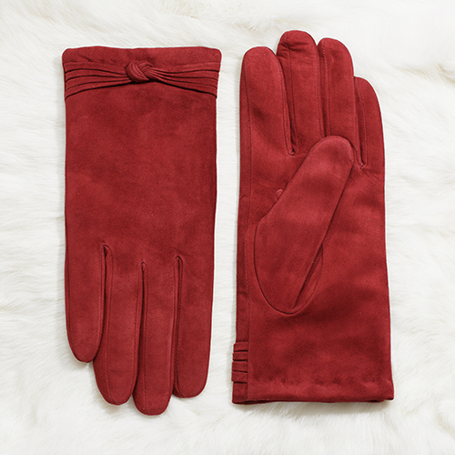 Paihuang short design sheepskin gloves female pink leather gloves sheepskin gloves is7162k-v2(China (Mainland))