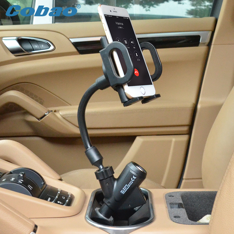 Car mount universal mobile cell phone car holder dual usb charger holder stand for iphone