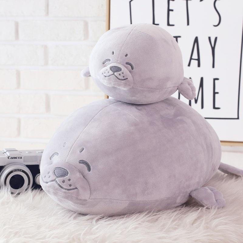 Fat Kawaii Sea Lions Seals Plush Toys Soft Stuffed Toys Girl Baby Birthday Gift Dolls Seals Pillow D303(China (Mainland))