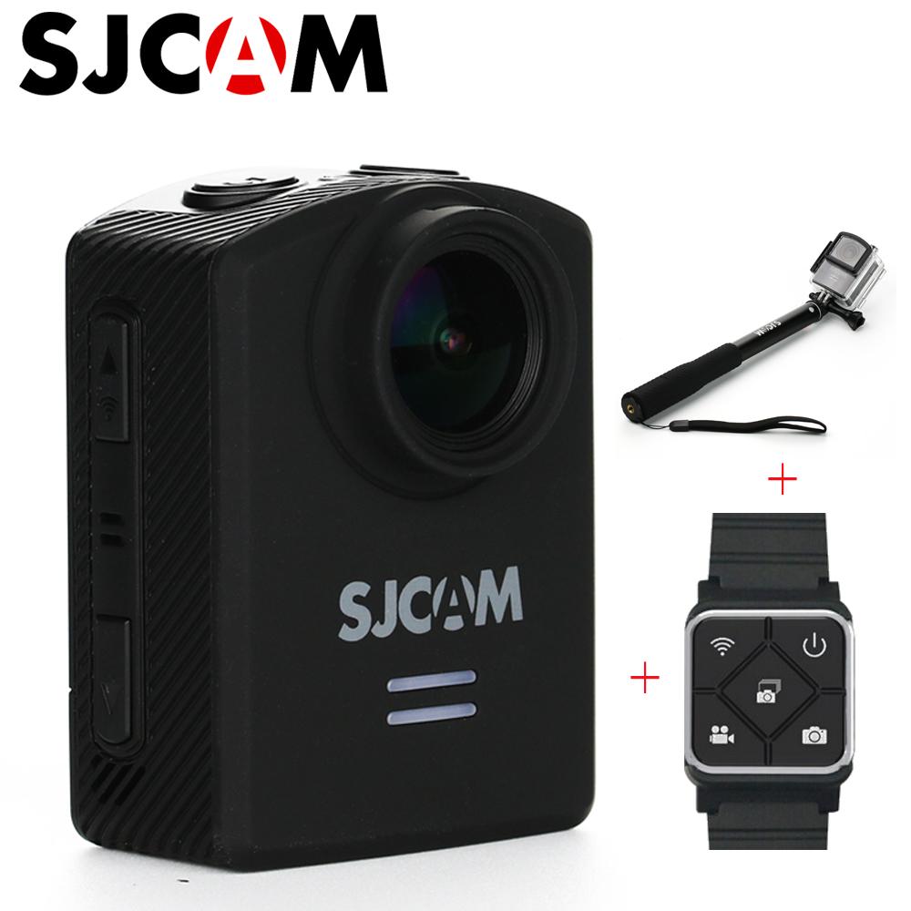 "SJCAM M20 Wifi Sports Action Camera 4K 166 Lens 1.5"" Waterproof 30m HD DV Car DVR Gyro NTK96660 Cam with Monopod Remote Control(China (Mainland))"