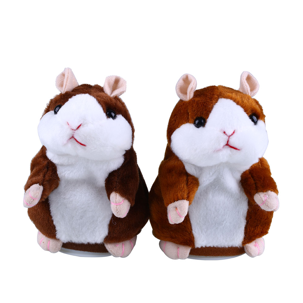 Talking Hamster Speak Talk Sound Record Repeat Stuffed Plush Animal Child Toy(China (Mainland))