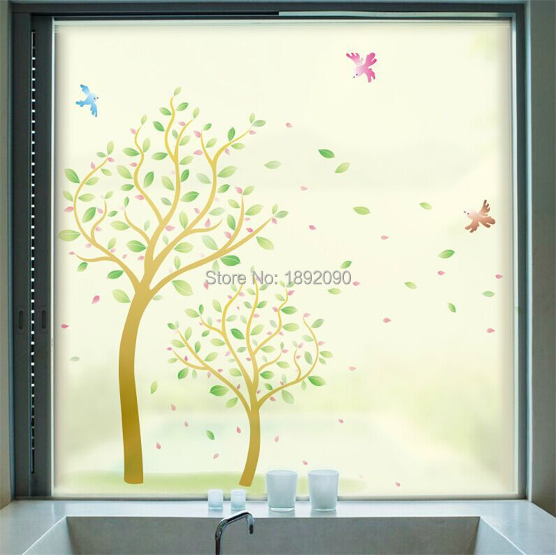frosted opaque decorative stained glass window film wall decals window film window decals
