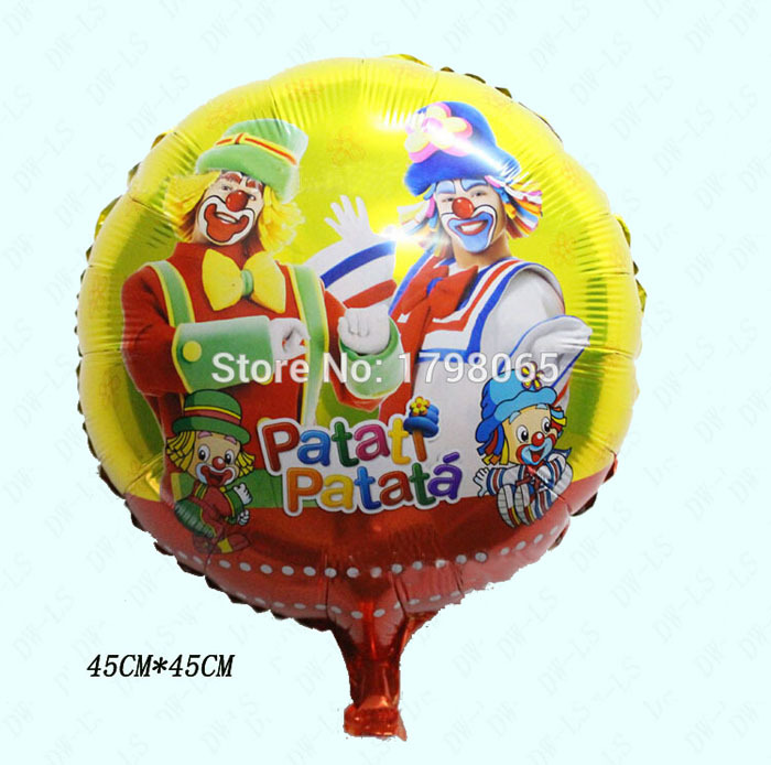 10pcs/lot 18 inch Clown balloons air balls kids birthday party decorations foil balloon Inflatable toys balloonfree shipping(China (Mainland))