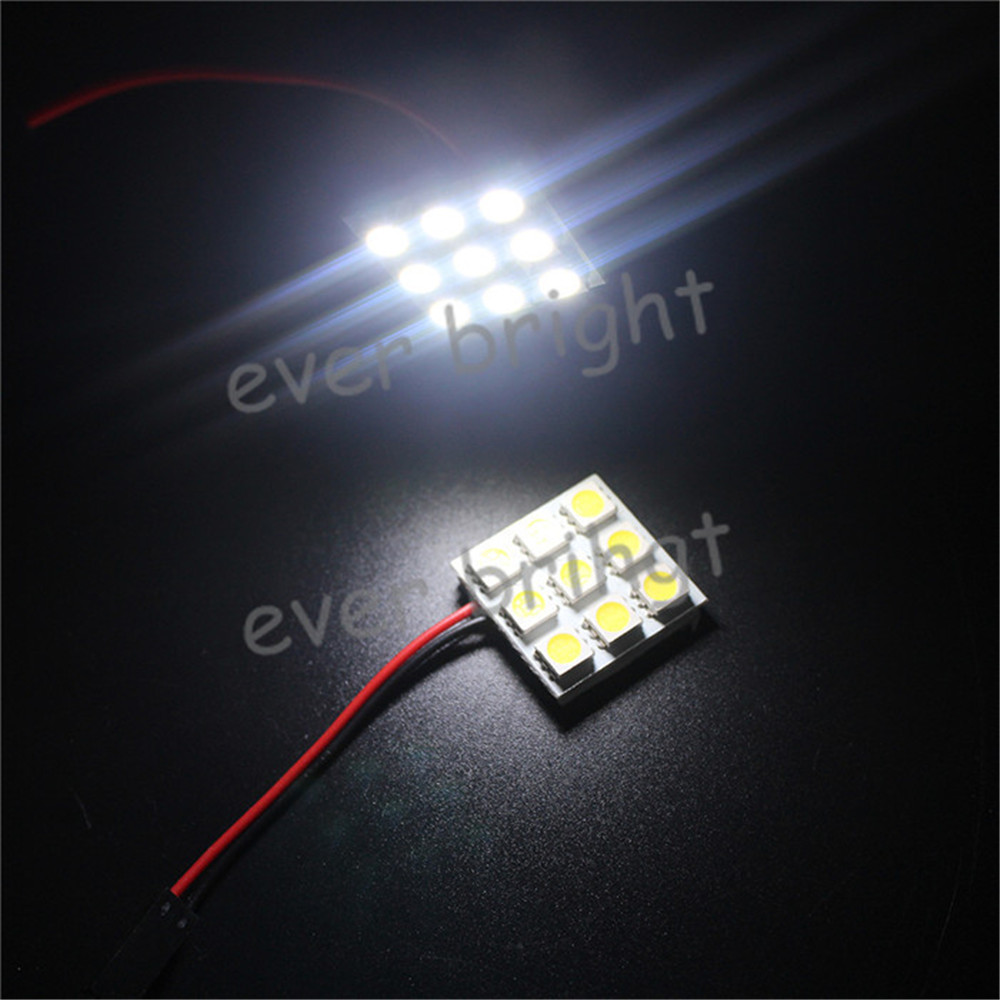 400X 9LED 5050 SMD Car Interior Reading Doom Light Led Panel T10 Festoon Adapters Replacement Parts Light(China (Mainland))