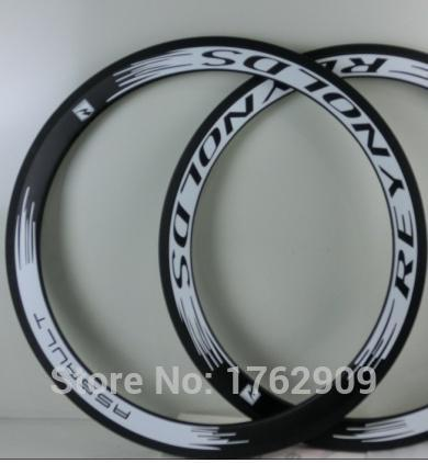 2Pcs Newest white 700C 50mm clincher rims Road bicycle 3K UD 12K full carbon fibre bike wheels rims 23 25mm width Free shipping(China (Mainland))