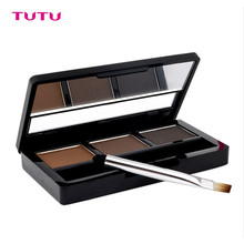 Professional Eye Brow Makeup Waterproof Glitter and Shimmer Eyebrow Powder Palette Eye Shadow Make Up Set Kit By TUTU(China (Mainland))