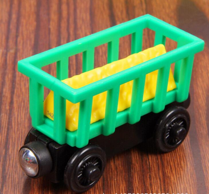 Wood Train Toy Magnetic Thomas And Friends Wooden Model Green Carriage Train Carriage Kids/Child Gift Christmas Gift(China (Mainland))